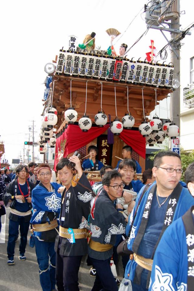 秋葉通り   掛川祭どこ屋台